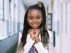 Kid's Knotless Braids With Beads