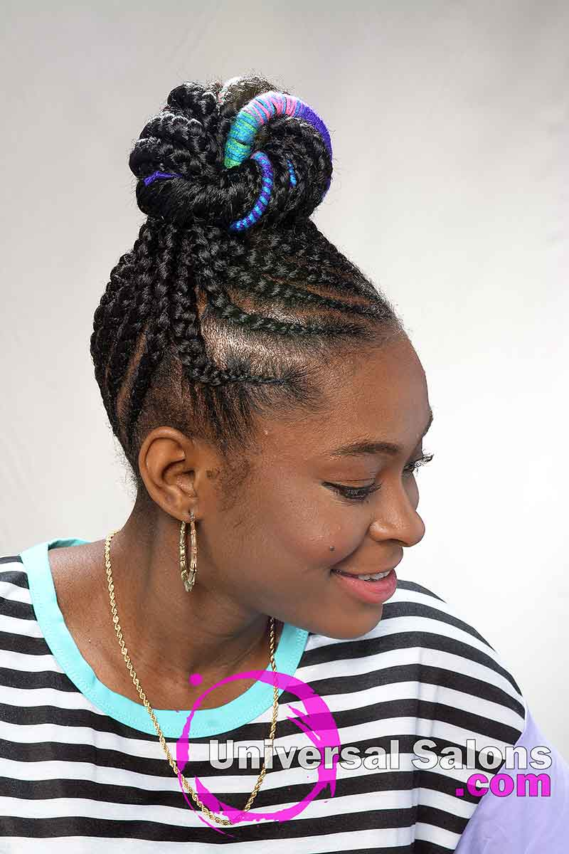 Right View of Kids Protective Hairstyles