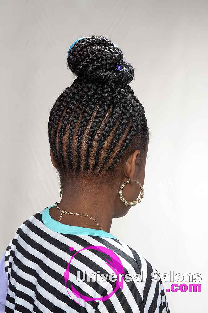 Back View Protective Hairstyles for Kids