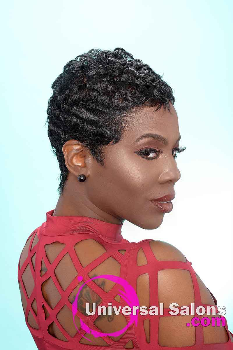 Short Pixie Cut With Finger Waves