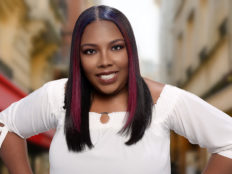 Middle Part Silk Press Hairstyle
