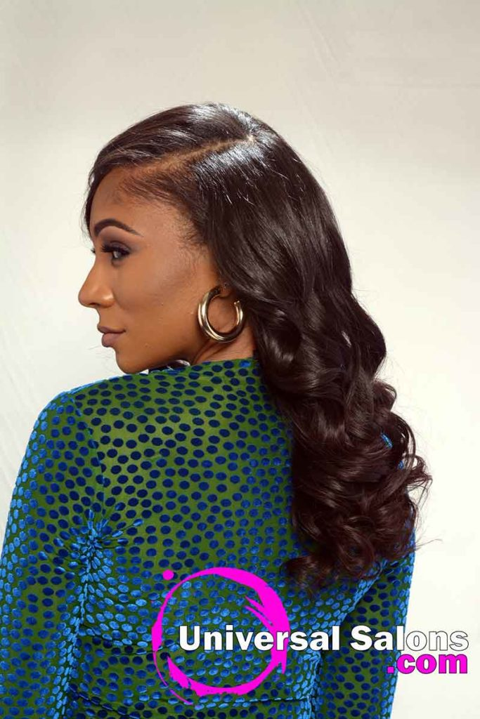Back Right Long Quick Weave Hairstyle
