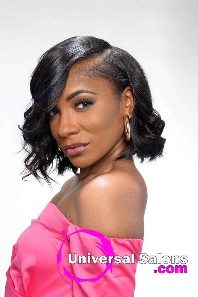 Quick Weave Bob with Razor Cut Hairstyle
