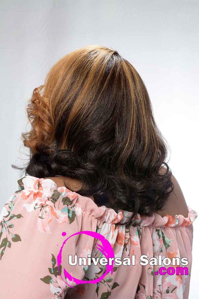 Back View Honey Blonde Hair Color for Black Women